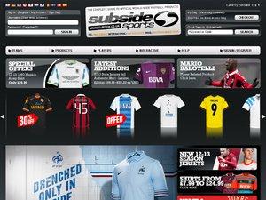 Subside Sports website
