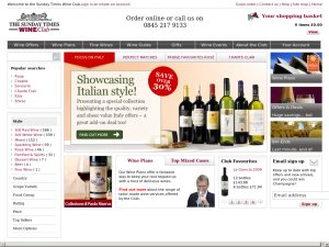 The Sunday Times Wine Club website