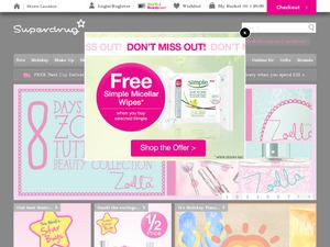 Superdrug website