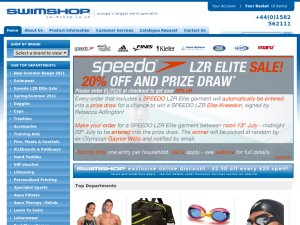 Swimshop website
