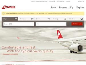 Swiss International Airlines website