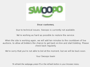Swoopo UK website