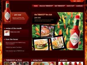Tabasco website