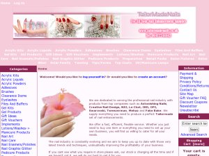 Tailormade Nails website