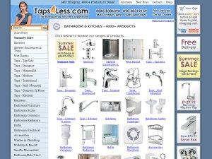 Taps4Less website