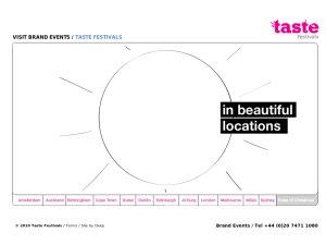 Taste of London website