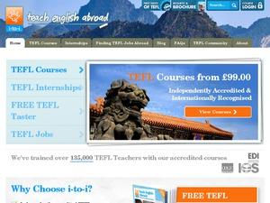 i-to-i TEFL courses website