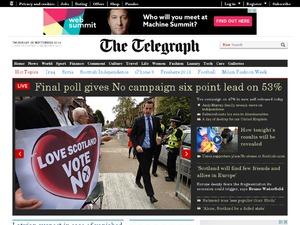 Telegraph website