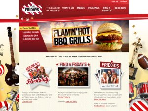 TGI Fridays website