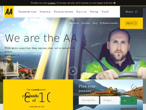 The AA website