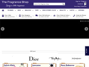The Fragrance Shop website