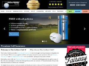 The Golfers Club website