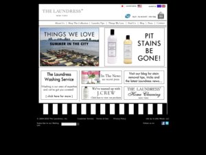 The Laundress website