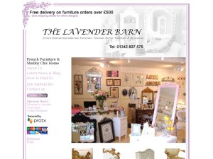 The Lavender Barn website