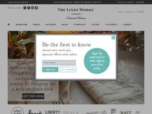 The Linen Works website
