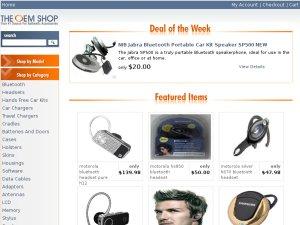 The OEM Shop website