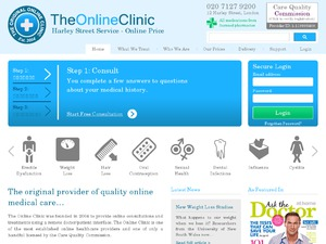 The Online Clinic website