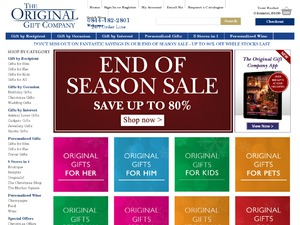 The Original Gift Company website