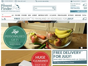The Present Finder website