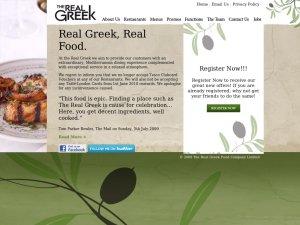 The Real Greek website