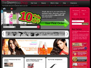 The Shampoo Shop website