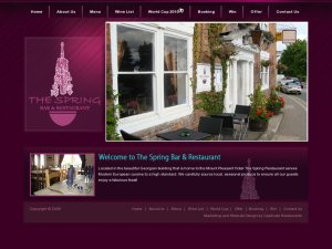 The Spring Restaurant website
