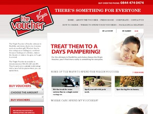 The Virgin Voucher website