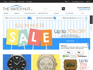 The Watch Hut website