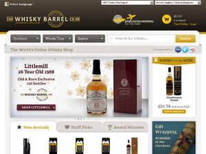 The Whisky Barrel website