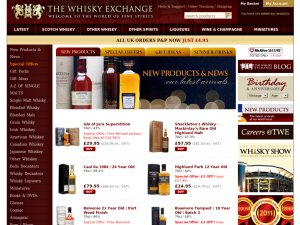 The Whisky Exchange website