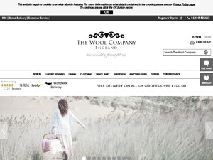 The Wool Company website
