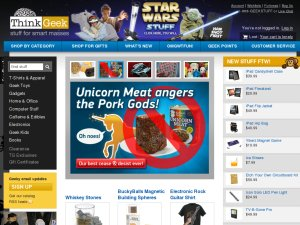 ThinkGeek website