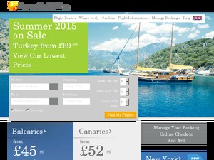 FlyThomasCook website