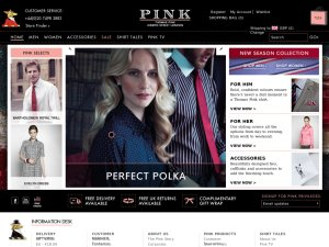 Thomas Pink website