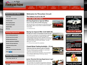 Thruxton Motorsport Centre website