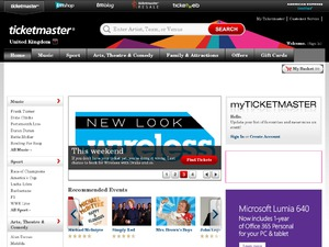 Ticketmaster website