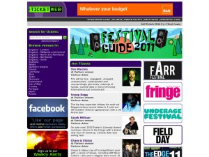 TicketWeb website