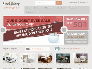 Time4Sleep Beds website