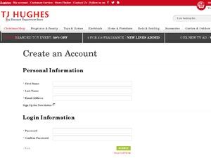 TJ Hughes website