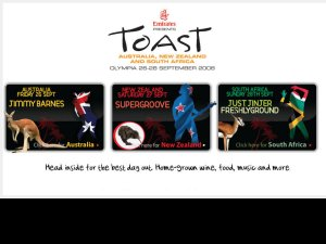 Toast Festivals website