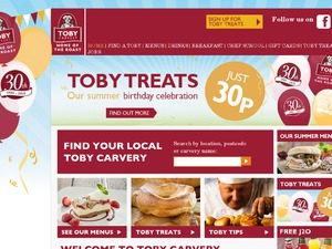Toby Carvery website