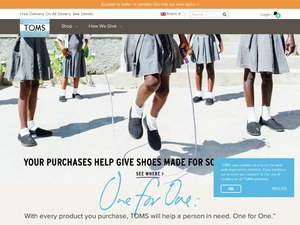 TOMS Shoes website