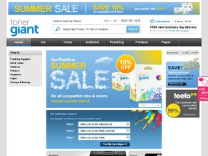 Toner Giant website