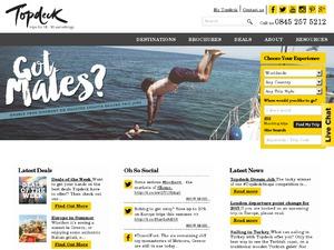 TopDeck Travel website
