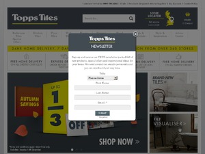 Topps Tiles Plc website