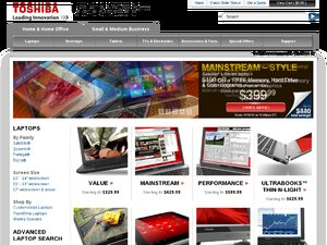 Toshiba website