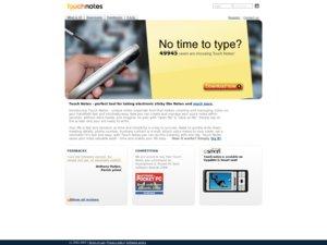 Touchnotes website