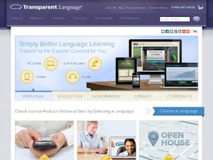 Transparent Language website