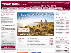 Travelbag website