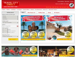 Travel City Direct website